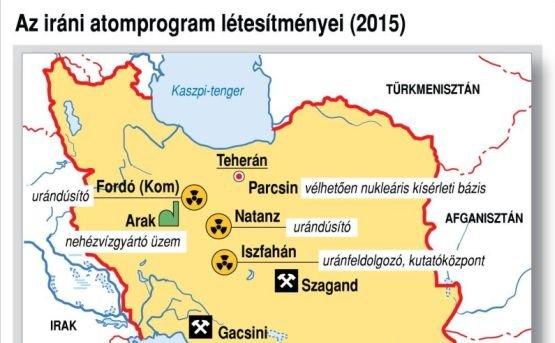 Irán atomtérképe