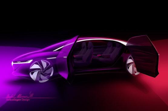 Önvezető elektromos koncepciót visz a Genfi Autószalonra a VW