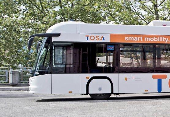 Az ABB szállíthatja a gyorstöltőket a genfi TOSA buszokhoz